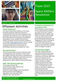 September - October 2020 Newsletter